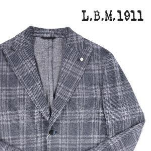 【50】 L.B.M.1911 エルビーエム ジャケット 958881 メンズ 春夏 リネン混 チェック ネイビー 紺 並行輸入品 アウター トップス|utsubostock