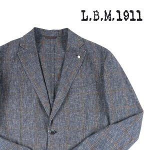 【54】 L.B.M.1911 エルビーエム ジャケット 958592 メンズ 春夏 リネン混 ネイビー 紺 並行輸入品 アウター トップス 大きいサイズ|utsubostock