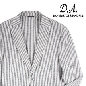 【52】Daniele Alessandrini ダニエレアレッサンドリーニ ジャケット メンズ 春夏 リネン混 ストライプ ホワイト 白 並行輸入品 アウター トップス 大きいサイズ utsubostock