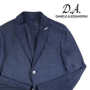 【46】 Daniele Alessandrini ダニエレアレッサンドリーニ ジャケット メンズ 春夏 リネン100% ネイビー 紺 並行輸入品 アウター トップス utsubostock