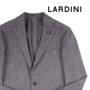 【52】 LARDINI ラルディーニ ジャケット メンズ 春夏 リネン混 チェック ブラウン 茶 並行輸入品 アウター トップス 大きいサイズ|utsubostock