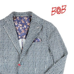 【50】 BOB ボブ ジャケット PRINST9 メンズ 千鳥 ネイビー 紺 並行輸入品 アウター トップス utsubostock