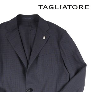 【50】 TAGLIATORE タリアトーレ ジャケット G-SAHARA メンズ 春夏 リネン混 チェック ネイビー 紺 並行輸入品 アウター トップス utsubostock