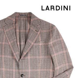 【48】 LARDINI ラルディーニ ジャケット メンズ 春夏 シルク混 チェック ベージュ 並行輸入品 アウター トップス|utsubostock