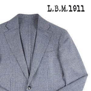 【48】 L.B.M.1911 エルビーエム ジャケット 21410 メンズ 春夏 リネン混 チェック ネイビー 紺 並行輸入品 アウター トップス|utsubostock