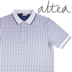 【XXL】 Altea アルテア 半袖ポロシャツ メンズ 春夏 総柄 ホワイト 白 並行輸入品 トップス 大きいサイズ utsubostock