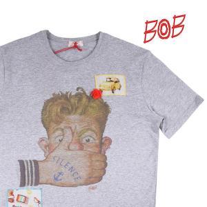 【S】 BOB ボブ Uネック半袖Tシャツ ROSY メンズ 春夏 グレー 灰色 並行輸入品 トップス utsubostock