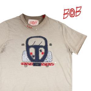 【S】 BOB ボブ Uネック半袖Tシャツ READY メンズ 春夏 ベージュ 並行輸入品 トップス utsubostock