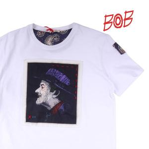【L】 BOB ボブ Uネック半袖Tシャツ A138 メンズ 春夏 ホワイト 白 並行輸入品 トップス utsubostock