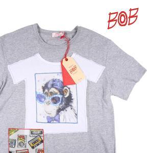 【S】 BOB ボブ Uネック半袖Tシャツ BETTY メンズ 春夏 グレー 灰色 並行輸入品 トップス utsubostock