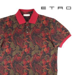 【S】 ETRO エトロ 半袖ポロシャツ メンズ 春夏 植物 ブラウン 茶 並行輸入品 トップス utsubostock
