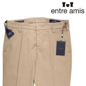 【36】 entre amis アントレアミス コットンパンツ メンズ 春夏 ストライプ ベージュ 並行輸入品 ズボン 大きいサイズ|utsubostock