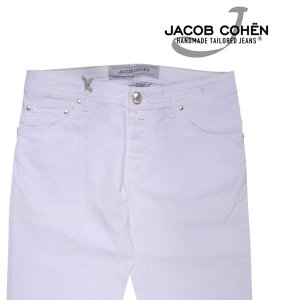 【33】 JACOB COHEN ヤコブコーエン コットンパンツ J622COMF メンズ 春夏 ホワイト 白 並行輸入品 ズボン|utsubostock