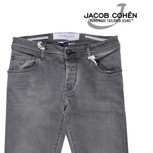 【34】 JACOB COHEN ヤコブコーエン ジーンズ J622COMF00947W2 メンズ グレー 灰色 並行輸入品 デニム 大きいサイズ|utsubostock