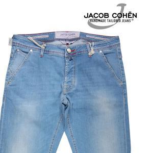 【35】 JACOB COHEN ヤコブコーエン ジーンズ J613COMF メンズ ブルー 青 並行輸入品 デニム 大きいサイズ|utsubostock