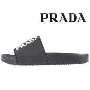 【6】 PRADA プラダ サンダル 4X3204 メンズ 春夏 ブラック 黒 並行輸入品|utsubostock