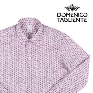 【40】 Domenico Tagliente ドメニコ・タリエンテ 長袖シャツ メンズ 花柄 ホワイト 白 並行輸入品 カジュアルシャツ|utsubostock