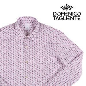 【43】 Domenico Tagliente ドメニコ・タリエンテ 長袖シャツ メンズ 花柄 ホワイト 白 並行輸入品 カジュアルシャツ 大きいサイズ|utsubostock