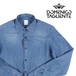 【39】 Domenico Tagliente ドメニコ・タリエンテ 長袖シャツ メンズ ブルー 青 並行輸入品 カジュアルシャツ|utsubostock