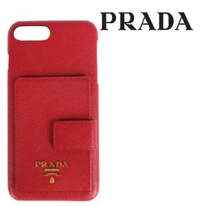 PRADA プラダ 携帯ケース iphone7plus/8plus メンズ レッド 赤 レザー 並行輸入品|utsubostock