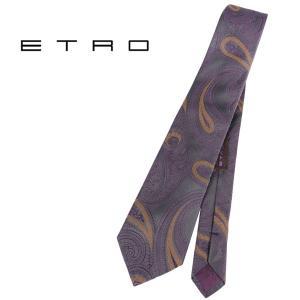 ETRO エトロ ネクタイ メンズ ペイズリー パープル 紫 並行輸入品|utsubostock