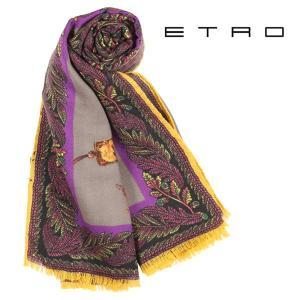ETRO エトロ ストール メンズ カシミヤxシルク混 グレー 灰色 並行輸入品|utsubostock