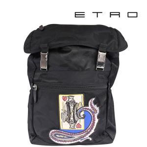 ETRO エトロ リュック メンズ ブラック 黒 並行輸入品|utsubostock