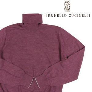 【52】 BRUNELLO CUCINELLI ブルネロクチネリ タートルネックセーター M2400103 メンズ 秋冬 カシミヤ混 パープル 紫 並行輸入品 ニット|utsubostock