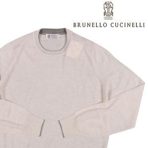 【56】 BRUNELLO CUCINELLI ブルネロクチネリ 丸首セーター M2400100 メンズ カシミヤ混 ホワイト 白 並行輸入品 ニット 大きいサイズ|utsubostock