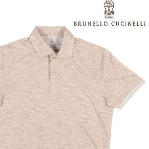 【S】 BRUNELLO CUCINELLI ブルネロクチネリ 半袖ポロシャツ MTS393966 メンズ 春夏 ベージュ 並行輸入品 トップス|utsubostock