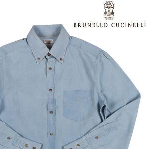 【M】 BRUNELLO CUCINELLI ブルネロクチネリ デニムシャツ M0U411706 メンズ ブルー 青 並行輸入品 デニム|utsubostock