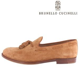 BRUNELLO CUCINELLI(ブルネロクチネリ) タッセルローファー MZUSNC940 ブラウン 42 22347br 【A22347】|utsubostock