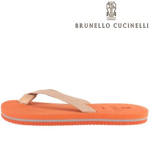 【42】 BRUNELLO CUCINELLI ブルネロクチネリ サンダル MZUFLIR066 メンズ 春夏 オレンジ 並行輸入品 utsubostock