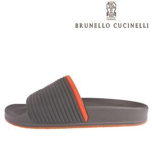 【44】 BRUNELLO CUCINELLI ブルネロクチネリ サンダル MZUCANR207 メンズ 春夏 グレー 灰色 並行輸入品 大きいサイズ|utsubostock