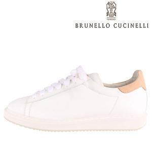 【41】 BRUNELLO CUCINELLI ブルネロクチネリ スニーカー MZUALNL203 メンズ レザー ホワイト 白 レザー 並行輸入品|utsubostock
