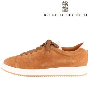 【41】 BRUNELLO CUCINELLI ブルネロクチネリ スニーカー MZUCBRL230 メンズ レザー ブラウン 茶 レザー 並行輸入品 utsubostock