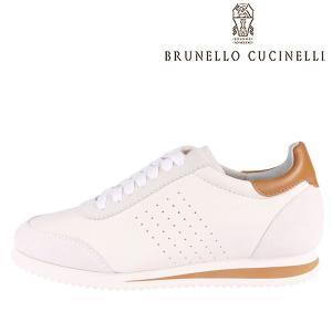 【39】 BRUNELLO CUCINELLI ブルネロクチネリ スニーカー MZUOSOT231 メンズ レザー ホワイト 白 レザー 並行輸入品|utsubostock
