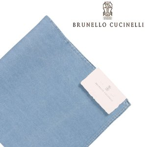 BRUNELLO CUCINELLI ブルネロクチネリ ポケットチーフ M0U410091 メンズ ブルー 青 並行輸入品|utsubostock