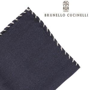 BRUNELLO CUCINELLI ブルネロクチネリ ポケットチーフ MG8540091 メンズ ネイビー 紺 並行輸入品|utsubostock