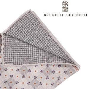 BRUNELLO CUCINELLI ブルネロクチネリ ポケットチーフ MG8770091 メンズ シルク100% グレー 灰色 並行輸入品|utsubostock