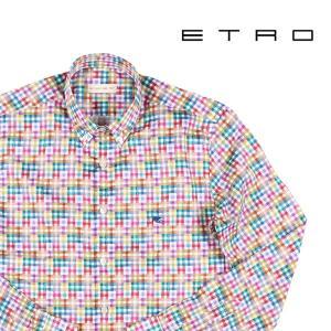 【41】 ETRO エトロ 長袖シャツ メンズ チェック マルチカラー 並行輸入品 カジュアルシャツ|utsubostock