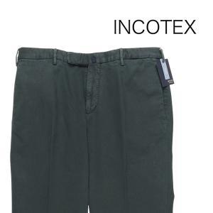 【48】 INCOTEX インコテックス コットンパンツ 1AGW30 メンズ グリーン 緑 並行輸入品 ズボン|utsubostock
