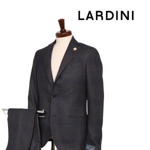 【44】 LARDINI ラルディーニ スーツ メンズ 秋冬 チェック ブラウン 茶 並行輸入品 utsubostock