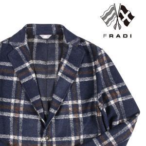 【48】 FRADI フラディ ジャケット メンズ 秋冬 ヴァージンウール混 チェック ネイビー 紺 並行輸入品 アウター トップス utsubostock