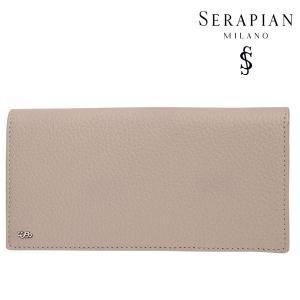 SERAPIAN セラピアン 財布 メンズ レザー ベージュ レザー 並行輸入品|utsubostock