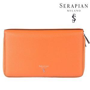 SERAPIAN セラピアン 財布 メンズ レザー オレンジ レザー 並行輸入品|utsubostock