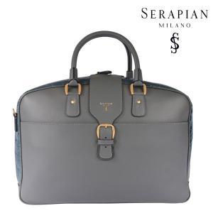 SERAPIAN(セラピアン) ブリーフケース グレー x ブルー ONESIZE 22609bl 【A22610】|utsubostock