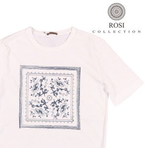 【XL】 ROSI COLLECTION ロージコレクション Uネック半袖Tシャツ メンズ 春夏 ホワイト 白 並行輸入品 トップス|utsubostock