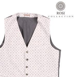 ROSI COLLECTION(ロージコレクション) ジレ GATSBY ホワイト x グレー 52 22639 【S22642】|utsubostock