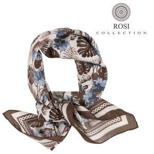 ROSI COLLECTION ロージコレクション スカーフ メンズ シルク混 植物 ホワイト 白 並行輸入品 utsubostock